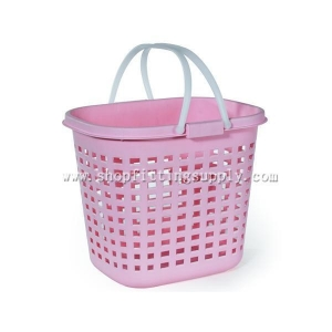 China Double Handle Plastic Laundry Basket GSB-606A on sale