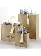 China china Kraft Paper Reusable jute Shopping Bag small Brown Shopper /paper Carrier/ Reusable craft Bag on sale