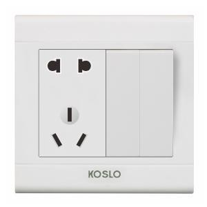 China 2-3 Pin Socket Outlet With 2 Gang Switch on sale