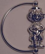 China Silver Baby Raggedy Andy Rattle on sale
