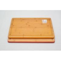 China Colored Edge Bamboo Cutting Board Bamboo Kitchen Board on sale
