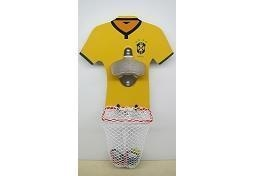 China Football Wall Mount Bottle Opener With Net Catcher DY-BO21 on sale