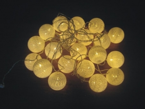 China LED String Light EY20301WW-20L-white cotton ball on sale