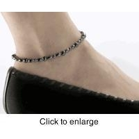 China Magnetic Hematite Ankle Bracelet Anklet 9.25  - 1 anklet on sale