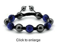 China Saphire Shamballa Magnetic Bracelet, Serenity 2000 No Longer Available on sale