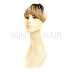 China Remy Brazilian Human Hair 1b/brown Clip Bangs Human Hair Extensions on sale
