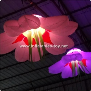 China Hanging Inflatable LED Flower Decorations on sale