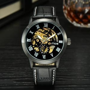 China OEM/ODM Watches custom case leather faces bulk mechanical wrist watch on sale