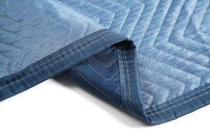 China Dark Blue And Light Blue Durable Furniture Pads Moving Blankets on sale