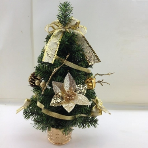 China 16 Potted Pine Artificial Christmas Table Tree on sale