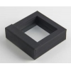 China Black Clothing Paper Box Packaging Folding for sale
