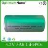 China 32650 Rechargeable Single Cell 5000mah 3.2v LiFePO4 Battery Cell With OEM Service for sale