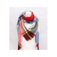 China 2017 Hot selling 100% acrylic wholesale blanket scarf shawl plaid blanket scarf on sale
