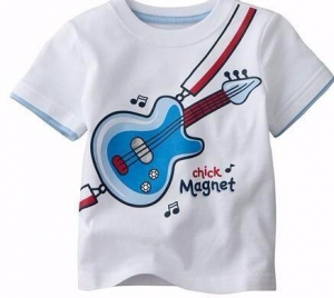 China Customized White Cute Printing 100%Cotton Kid′s T Shirt (KY-T080) on sale