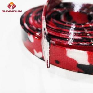 China Camouflage red tpu / pvc coated nylon webbing on sale