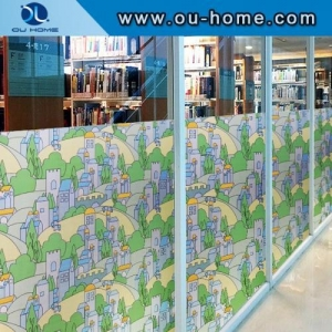 China 9104 PVC stained self adhesive window film on sale