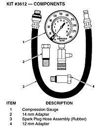 China Innova 3612 Compression Tester  4 Piece Kit (Auto Accessory) 1061 on sale