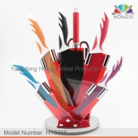 Royalty line RL-COL8 style kitchen knife set with acrylic stand