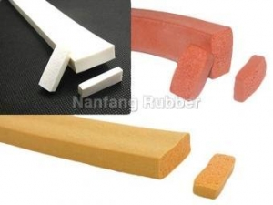 China square shape silicone foam gasket on sale
