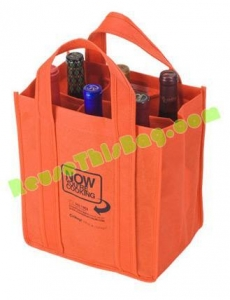China 4 and 6 Bottle Reusable Wine Bags Totes on sale