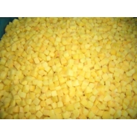 China Frozen diced yellow peach on sale