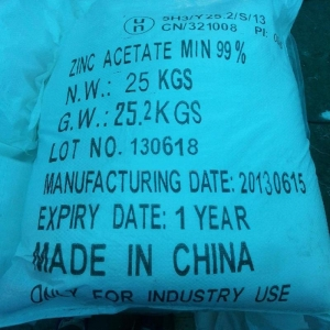 China Plastic chemicals Zinc acetate on sale