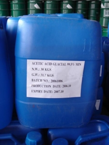 China Plastic chemicals Glacial Acetic Acid on sale