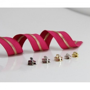China Latest design hot selling high quality decorative lace in boot zip copper zipper inserts on sale