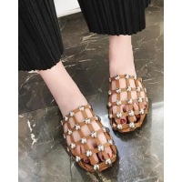 Summer flat slippers hollow sandals for women