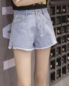 China Korean style high waist student short jeans for women on sale
