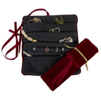 Travel Velvet Jewerly Pouch with Satin Bow Closure 007