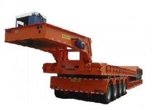 China heavy construction machinery low bed semi-trailer on sale