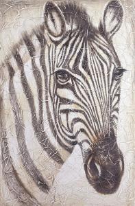 China zebra canvas painting wall art on sale