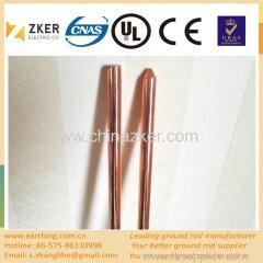 China copper plated steel earthing rod on sale