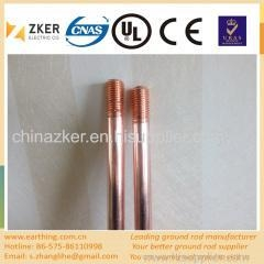 China electric fence copper clad extensible ground rod on sale