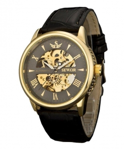 China SEWOR Men's Automatic Mechanical Wrist Watch C1139 on sale