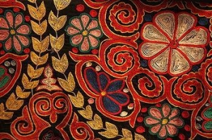 China Silk Embroidery Silk Fabric on sale
