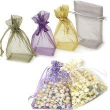 China Sheer and printed organza bags organza Pouch organza gift bags on sale