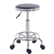 China Wahson Black Adjustable Rolling Bar Stools Swivel Hydraulic Chair Stool Facial Massage on sale