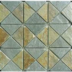 China Gold Slate Stone Mosaic Paver YX-MC-051 on sale