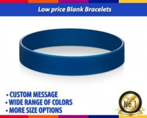 China Low Price Blank Rubber Bracelets with No Minimum in Any Pantone Colors on sale