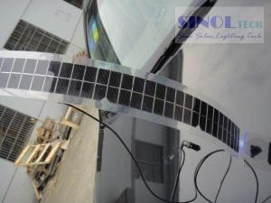 China 7W Semi transparent semi-rigid mono solar panel solar car charger on sale