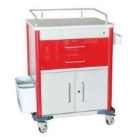 China Movable Hospital Plastic Medical Crash Cart with Drawers Emergency Cart on sale