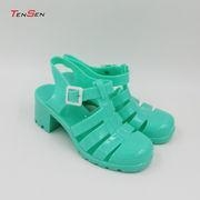 China Women's Jelly Sandals, Super Popular, High Heel, Round Toes on sale