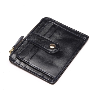 China Itslife Women's Leather Card Case Wallet with Zipper on sale