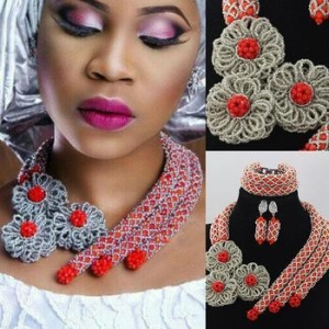 China African beads wholesale manufacturers nigeria wedding jewelry set necklace on sale