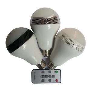 China 5W E27 Led Bulb Light Wireless Bluetooth Light Speaker Lamp Remote Control on sale