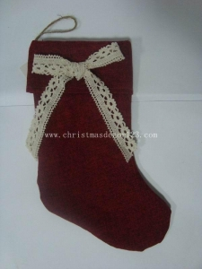 China LH60486 15 Burlap christmas Stocking on sale