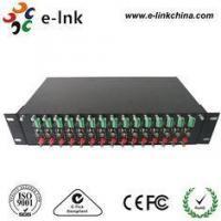 China 16 Slot 2U Video Converter Rack CCTV Fiber Optic Converter , CCTV Coax To Ip Converter on sale