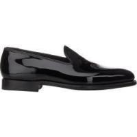 China Crockett & Jones Men's Plain-Toe Loafers-BLACK Size 10 M on sale